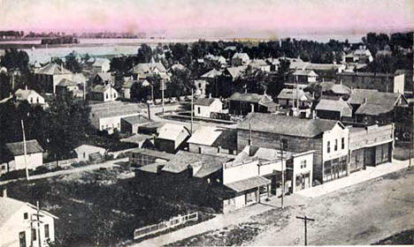 View southeast from power house, Barnesville Minnesota, 1910
