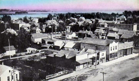 View Southeast from Power House, Barnesville Minnesota, 1910's