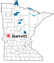 Location of Barrett Minnesota
