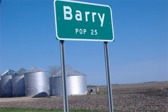 Barry Minnesota population sign