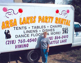 Area Lakes Party Rental, Battle Lake Minnesota