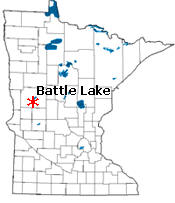 Location of Battle Lake Minnesota