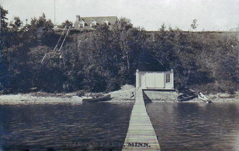 View from Battle Lake Minnesota, 1909