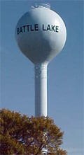Battle Lake Minnesota Water Tower