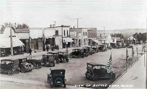 Street scene, Battle Lake Minnesota, 1910's