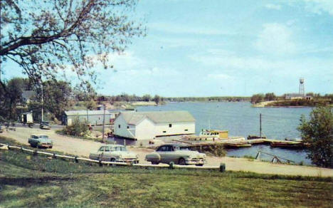 Bay & Harbor Scene, Baudette Minnesota, 1956
