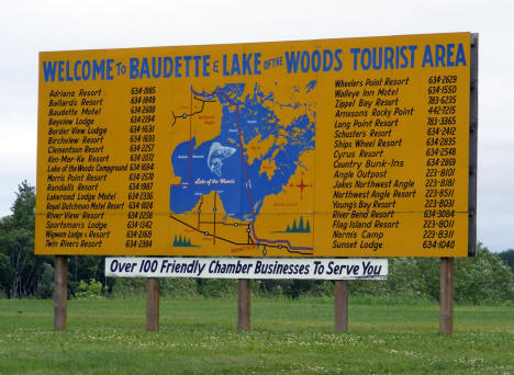 Welcome to Baudette Sign, 2009