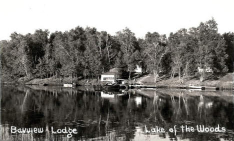 Bayview Lodge on Lake of the Woods, Baudette Minnesota, 1940's