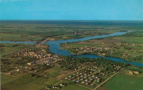 Aerial view of Baudette, Minnesota, 1960