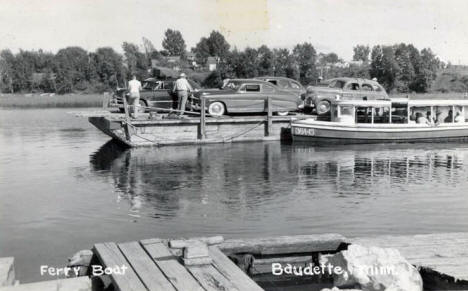 Ferry Boat at Baudette Minnesota, 1952