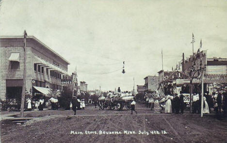 4th of July Parade, Main Street, Baudette Minnesota 1912