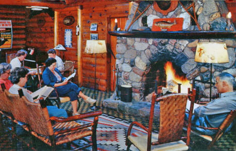 Interior of Ruttger's Bay Lake Lodge, 1961