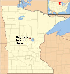 Location of Bay Lake Township Minnesota