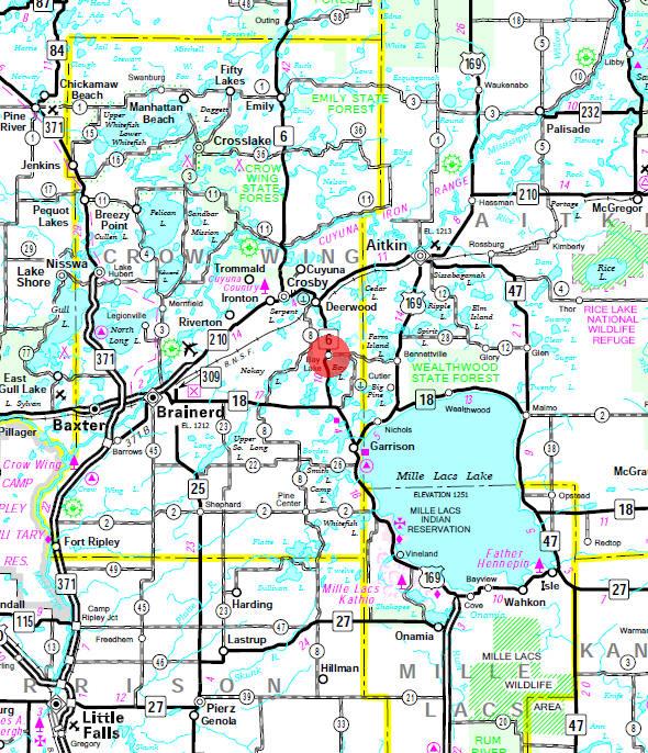 Guide To Bay Lake Minnesota - Map of minnesota lakes