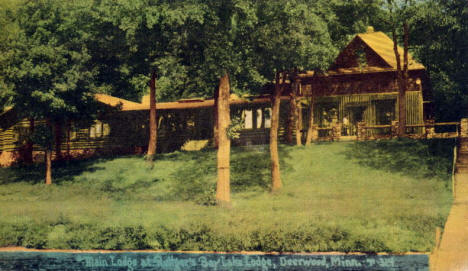 Main Lodge at Ruttger's Bay Lake Lodge, 1939