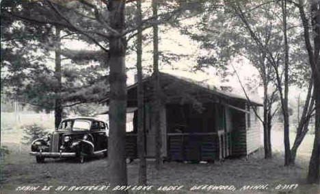 Cabin 25 at Ruttger's Bay Lake Lodge, 1940's