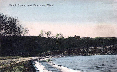 Beach Scene, near Beardsley Minnesota, 1909