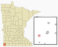 Location of Beaver Creek, Minnesota