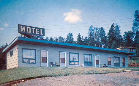 Spruce Point Motel, Beaver Bay Minnesota, 1960's