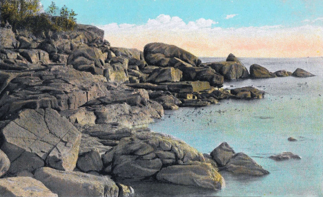 Lake Superior shoreline near Beaver Bay Minnesota, 1920's
