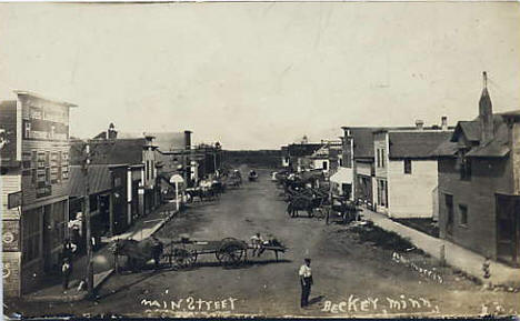 Main Street, Becker Minnesota, 1910