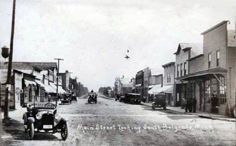 Main Street looking south, Belgrade Minnesota, 1915