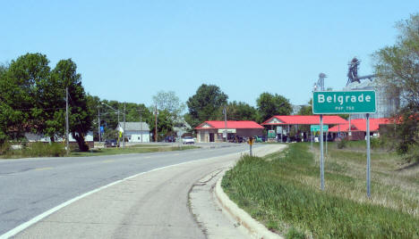 Entering Belgrade Minnesota on State Highway 55, 2009