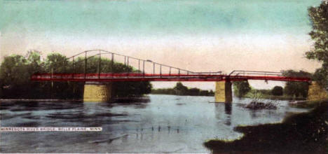 Mississippi River Bridge, Belle Plaine Minnesota, 1907