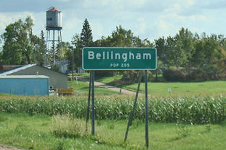 Bellingham Minnesota population sign