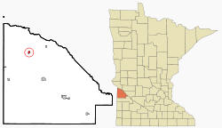 Location of Bellinham Minnesota