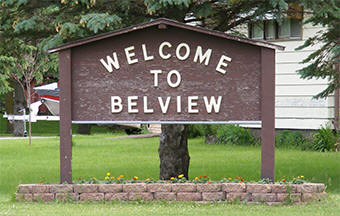 Belview Minnesota welcome sign