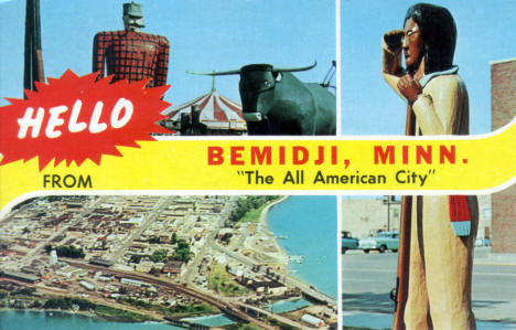 Multiple views of Bemidji Minnesota, 1961
