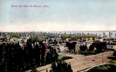 Birds Eye View of Bemidji Minnesota, 1910