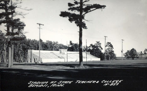 Stadium at State Teachers College, Bemidji Minnesota, 1940's