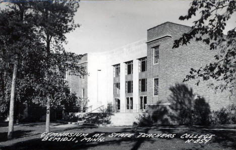 Gymnasium at State Teachers College, Bemidji Minnesota, 1940's