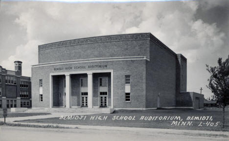 Bemidji High School Auditorium, Bemidji Minnesota, 1940's?