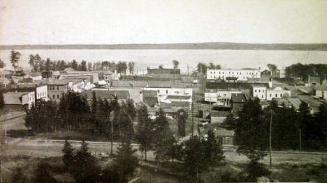 Birds Eye View, Bemidji Minnesota, 1912