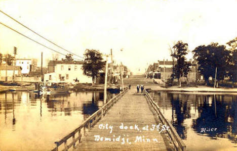City dock, Bemidji Minnesota, 1909