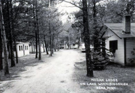 Nodak Lodge, Lake Winnibigoshish, Bena Minnesota, 1950's