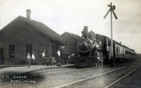 Great Northern Depot, Bena Minnesota, 1911