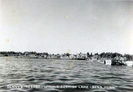 Denny's Resort on Lake Winnibigoshish, Bena Minnesota, 1955