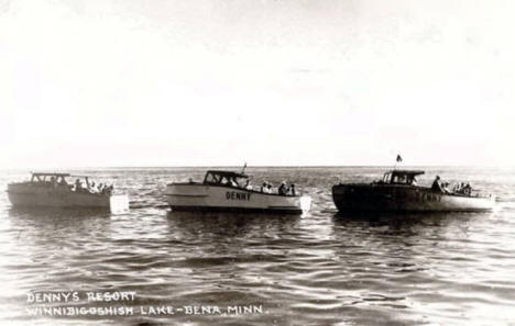 Wooden Boats, Denny's Resort, Bena Minnesota, 1940's