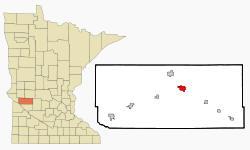 Location of Benson Minnesota