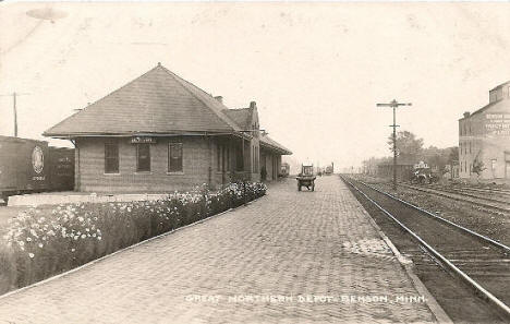 Great Northern Depot, Benson Minnesota, 1910's