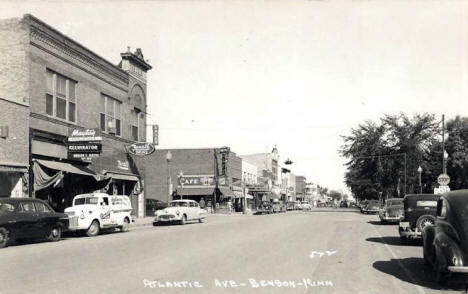 Atlantic Avenue, Benson Minnesota, 1950's