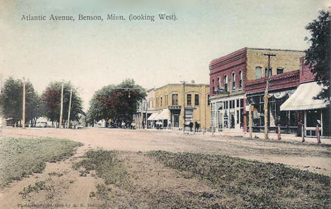 Atlantic Avenue looking west, Benson Minnesota, 1908