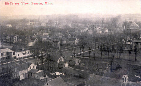 Birds eye view, Benson Minnesota, 1913