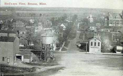 Birds eye view, Benson Minnesota, 1910's