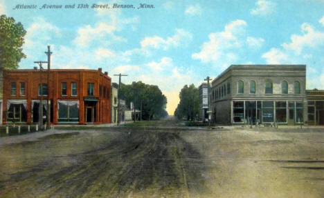 Atlantic Avenue and 13th Street, Benson Minnesota, 1911