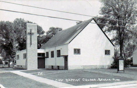 First Baptist Church, Benson Minnesota, 1950's